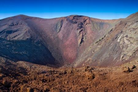 timanfaya: Paisaje volc�nico en el parque nacional de Timanfaya Lanzarote isla