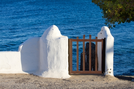 Traditional archutecture at Costa Teguise Lanzarote island Stock Photo