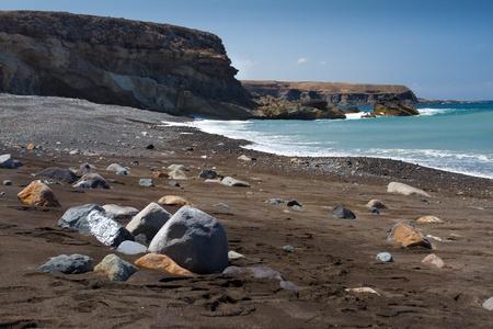 Ajui volcanic beach Fuerteventura Stock Photo
