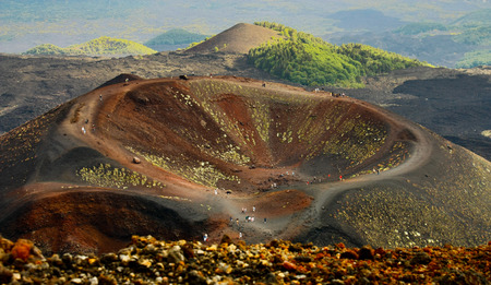 Dormant crater of Etna