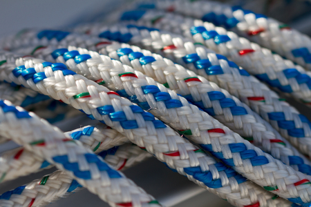 Sailing rope macro Stock Photo