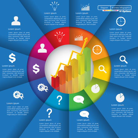 Financial and Business Info-graphic.