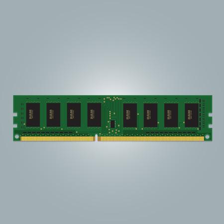 Computer RAM Random-Access Memory Chip Isolated. RAM Memory Module.
