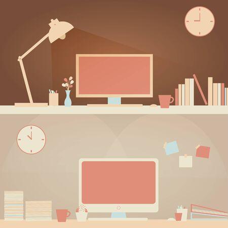 Easy Home Desk  Office Desk Scene.