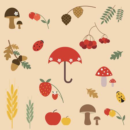 Autumn elements for design Vector