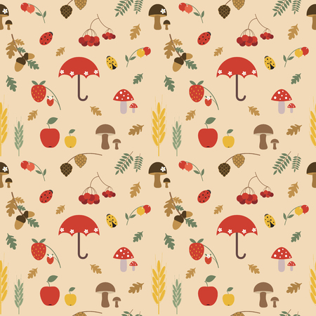 Colorful autumn pattern Vector