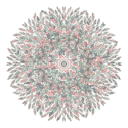 ethnicity: Mandala. Ethnicity floral round ornament. Circular ornament in ethnic style.