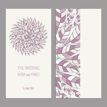 Templates for greeting and business cards, brochures, covers with floral motifs. Oriental pattern.