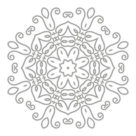 Mandala Páginas Para Colorear Antiestrés Para Adultos. Patrón ...