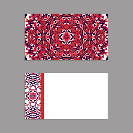 Templates for greeting and business cards, brochures, covers with floral motifs. Oriental pattern. Mandala. Invitation, save the date, RSVP. Arabic, Islamic, turkish, asian, indian, african motifs. Illustration