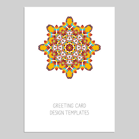 Template for greeting and business cards. Illustration