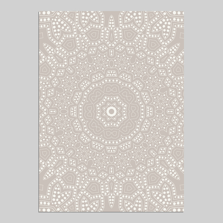 Template for greeting and business cards, brochures, covers with floral motifs. Oriental lace pattern. Mandala. Wedding invitation, save the date, RSVP. Arabic, Islamic, asian, indian, african motifs.