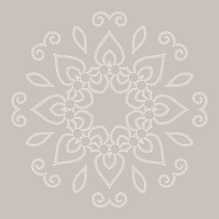 Mandala ethnicity round ornament. Ethnic style. Elements for invitation card. Oriental circular pattern, lace background. Cards, brochures, covers. Arabic, Islamic, asian, indian native african motifs.