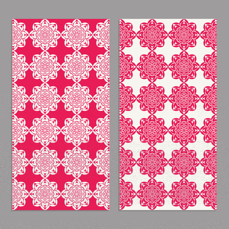 Templates for greeting and business cards, brochures, covers with floral motifs. Oriental pattern. Mandala. Wedding invitation, save the date, RSVP. Arabic, Islamic, moroccan, asian, indian native african motifs.