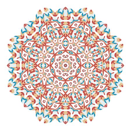 Mandala. Ethnicity round ornament. Elements for invitation cards, brochures, and covers.