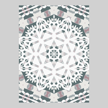 Template for greeting and business cards, brochures, covers. Oriental pattern. Mandala. Illustration