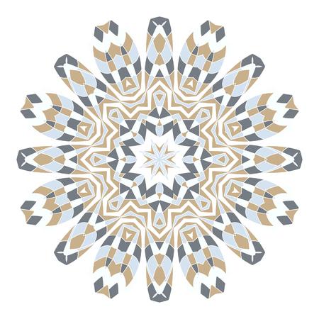 Mandala Ethnicity round ornament. Ethnic style. Illustration