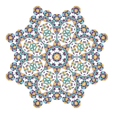 Mandala. Ethnicity round ornament. Ethnic Boho-Chic style. Elements for invitation cards, brochures, covers. Oriental circular pattern. Arabic, Islamic, turkish, moroccan, asian, indian native motifs.