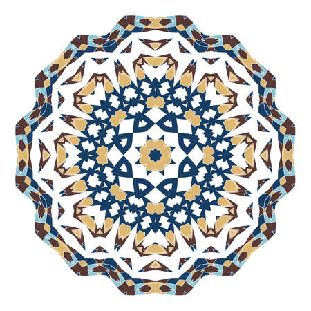 Mandala. Ethnicity round ornament. Ethnic style. Elements for invitation card. Oriental circular pattern, lace background. Cards, brochures, covers. Arabic, Islamic, asian, indian native african motifs.
