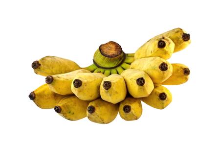 banana skin: Pisang Awak banana, Namwa banana, Cultivate banana on isolate white background Stock Photo