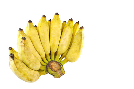 banana skin: Pisang Awak banana, Namwa banana, Cultivate banana on isolate white background Stock Photo
