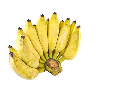 banane: Pisang Awak banane, Namwa banane, la banane Cultiver sur fond blanc isolat