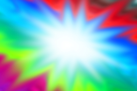 brilliancy: Abstract Graphic paint colorful background with white flash star in center Stock Photo