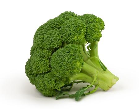 �broccoli: br�coli aislado en blanco