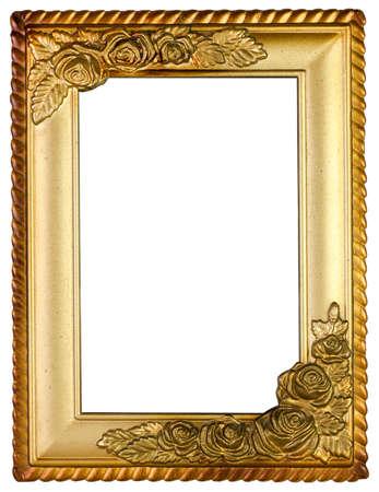 cadre doré. isolé sur blanc