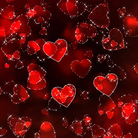 Abstract background heart photo
