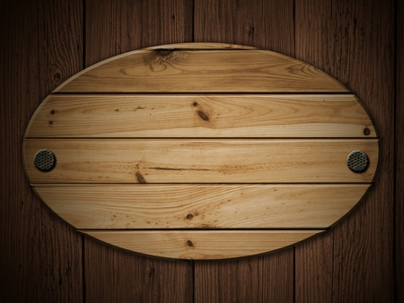 polished wood: pannello di legno vecchio sul grunge parete di legno
