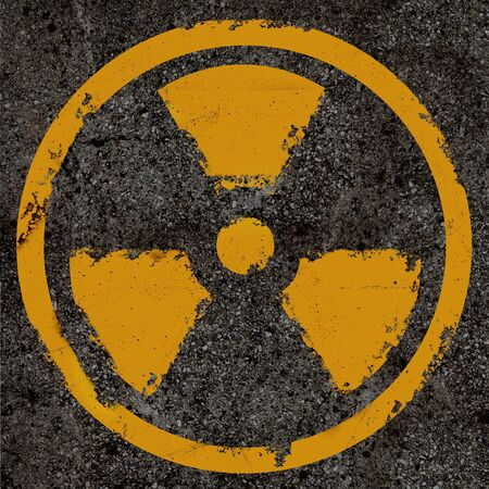 caution chemistry: Warning radiation background texture Stock Photo