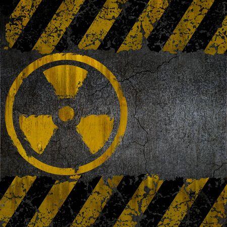 Warning radiation background texture photo