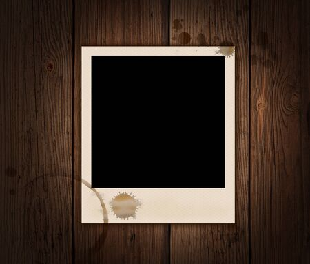 Picture on an old wooden substrate with patches of tea Stock Photo - 9827121