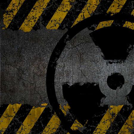 Warning radiation background texture Stock Photo - 9827120