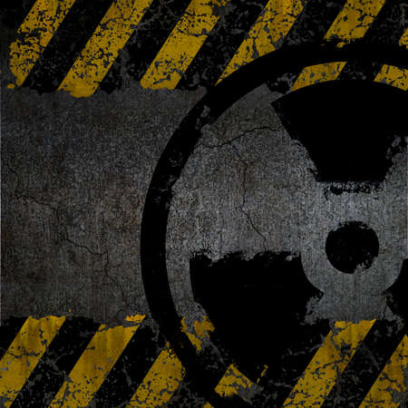 Warning radiation background texture Stock Photo - 9827120