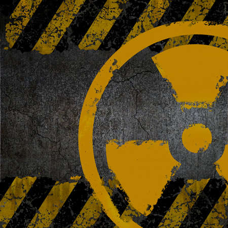 Warning radiation background texture Stock Photo - 9827123