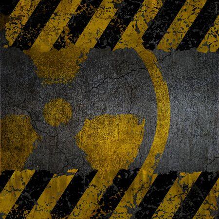 Warning radiation background texture Stock Photo - 9827128