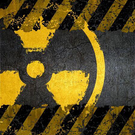 Warning radiation background texture Stock Photo - 9827129