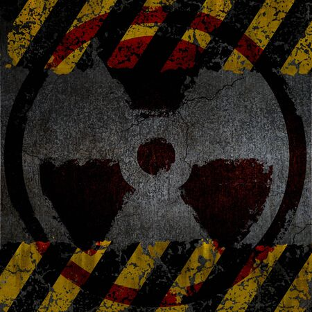 Warning radiation background texture Stock Photo - 9827124
