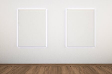 art gallery interior: picture gallery Stock Photo