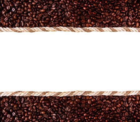 frame from coffee beans isolated on white background Stock Photo - 10475160