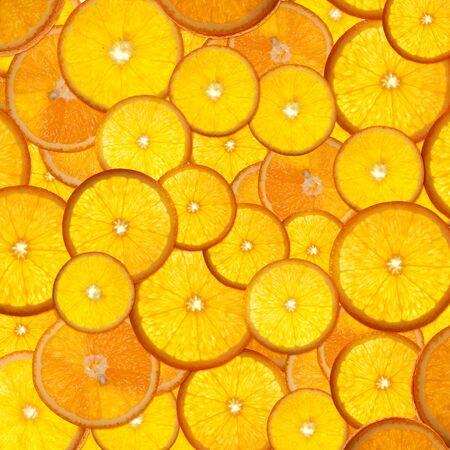 mandarin orange: bright orange background from slices of juicy oranges