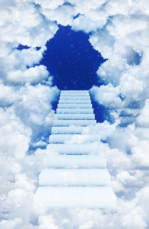 Stairs in sky photo