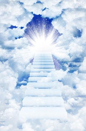 Escaleras en el cielo Foto de archivo - 10502228