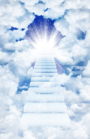 Stairs in sky Stock Photo - 10502228