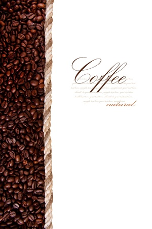 frame from coffee beans isolated on white background Stock Photo - 10696512