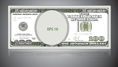 One hundred dollars. EPS 10 Vector