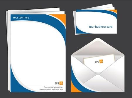 Set of corporate identityvector patterns Illustration