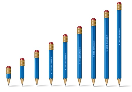 Pencils Standing on Isolated White Backgroundeps 10 Illustration